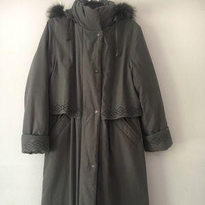 Women's trench coat mint